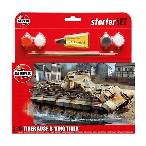Airfix 55303 1:76 King Tiger Tank Starter Set